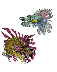Fairytail dragon embroidery designs