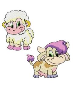9 set Farm Animals Embroidery Design