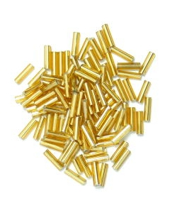 Bugle Beads 6mm in Gold
