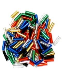 Bugle Beads 6mm in Multi Coloured