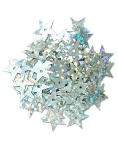 Sequins Hologram Stars 10mm in Silver