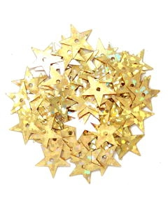 Sequin Hologram Stars 10mm in Gold