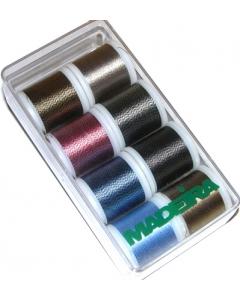 Madeira Soft Twisted Metallic Thread Box 8 x 200m spools