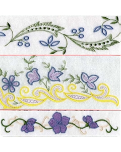 Border Embroidery Design for Linens