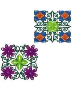 10 Set Beautiful Quilting Blocks Embroidery Design