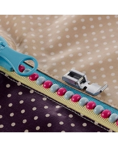 Narrow type zipper foot For Brother