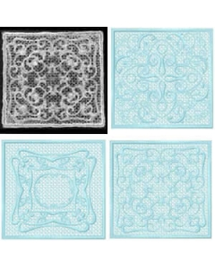 10 set FSL Lace Squares Embroidery Design