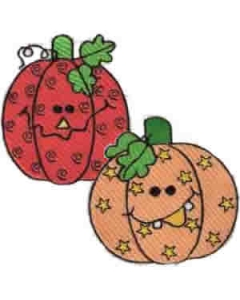 13 Set Funny Pumpkins Embroidery Design