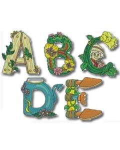 Gardening Alphabet Embroidery Design