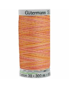 Gutermann Sulky Cotton Thread 300M Orange, Pink Col.4003