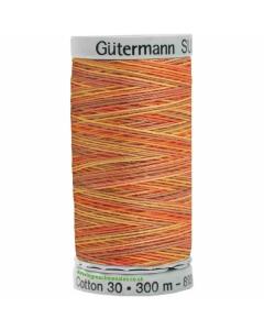 Gutermann Sulky Cotton Thread 300M Orange, Blue Col.4004
