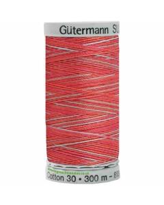 Gutermann Sulky Cotton Thread 300M Red, Grey Col.4005