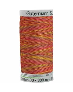 Gutermann Sulky Cotton Thread 300M Orange, Red, Yellow Col.4006