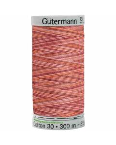 Gutermann Sulky Cotton Thread 300M Brown, Pink, Orange Col.4008