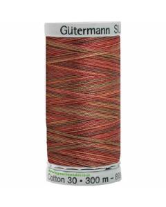 Gutermann Sulky Cotton Thread 300M Brown, Red Col.4010