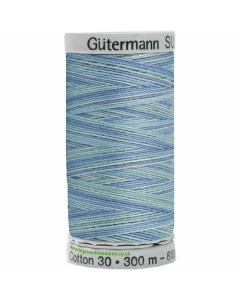 Gutermann Sulky Cotton Thread 300M Blues Col.4014