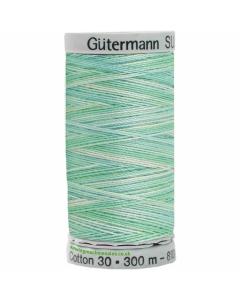 Gutermann Sulky Cotton Thread 300M Green, Silver Col.4015