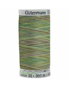 Gutermann Sulky Cotton Thread 300M Green, Browns Col.4019