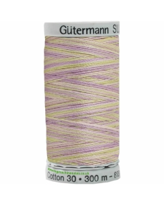 Gutermann Sulky Cotton Thread 300M Purple, Yellow Col.4024