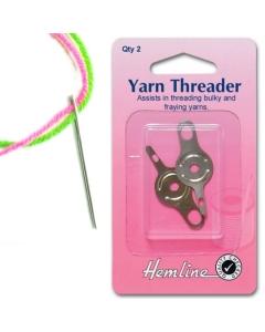 Wool needle threader