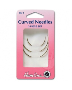 Curved hand sewing needles