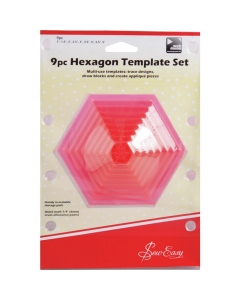 9pc Hexagon Template Set
