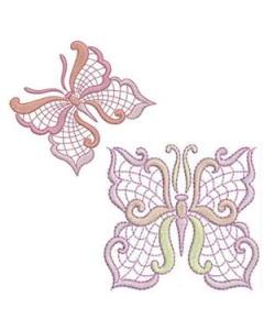 Jacobean Butterflies Embroidery Design
