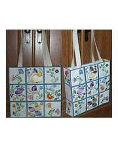 Jacobean Tote Bag Embroidery Design