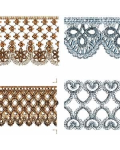 Continuous Lace Border pack Embroidery Design