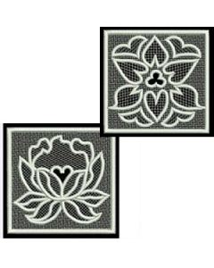 10 set FSL Squares Embroidery Design