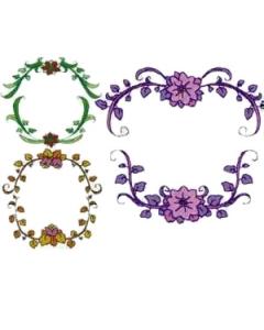 Single Monogram Frames Embroidery Design