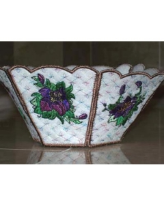 Beautiful Lily Bowl Embroidery Design