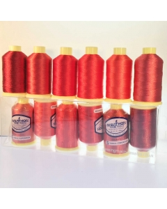 Marathon Red collection of 6 x embroidery threads