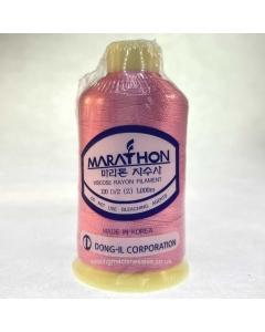 Marathon Machine Embroidery Thread Watermelon Pink 1023 1000m Rayon Thread