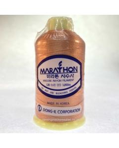 Marathon Machine Embroidery Thread Cantaloupe Orange 1041 1000m Rayon Thread