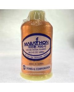 Marathon Machine Embroidery Thread Mango Orange 1042 1000m Rayon Thread