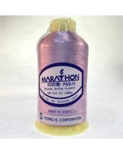 Marathon Machine Embroidery Thread Blossom Pink 1074 1000m Rayon Thread