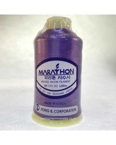 Marathon Machine Embroidery Thread Eggplant Purple 1082 1000m Rayon Thread