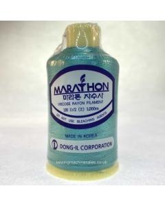Marathon Machine Embroidery Thread Sea Green Blue 1105 1000m Rayon Thread