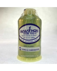 Marathon Machine Embroidery Thread Pistachio Green 1122 1000m Rayon Thread