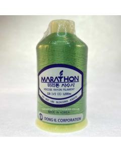 Marathon Machine Embroidery Thread Medium Spring Green 1125 1000m Rayon Thread