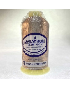 Marathon Machine Embroidery Thread Brown Sugar 1130 1000m Rayon Thread