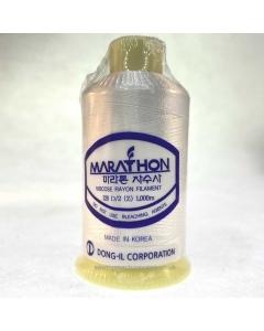 Marathon Machine Embroidery Thread White 1179 1000m Rayon Thread