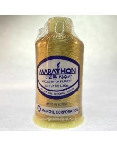 Marathon Machine Embroidery Thread Cinnamon Gold 1187 1000m Rayon Thread
