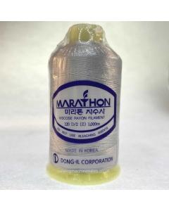 Marathon Machine Embroidery Thread Grey Goose 1210 1000m Rayon Thread