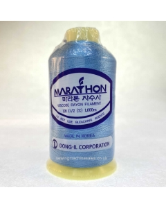 Marathon Machine Embroidery Thread Marble Blue 1270 1000m Rayon Thread