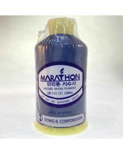 Marathon Machine Embroidery Thread Jet Blue 1325 1000m Rayon Thread