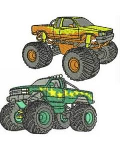 10 set Monster Trucks Embroidery Design
