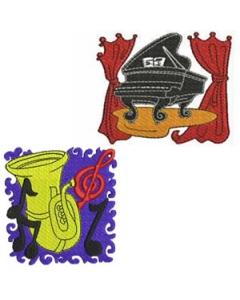 10 set Music Theme Embroidery Design