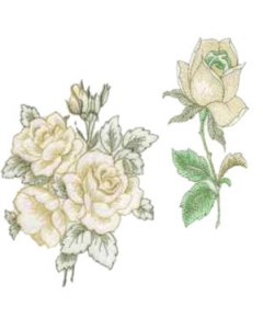 10 set Large Open Floral Embroidery Design